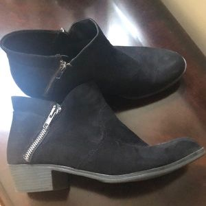 Suade ankle boots